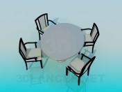 कुर्सियों के साथ तालिका