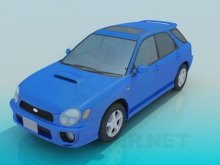 3d модель Subaru impreza – превью