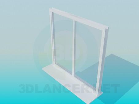 3d модель Окно металопластиковое – превью