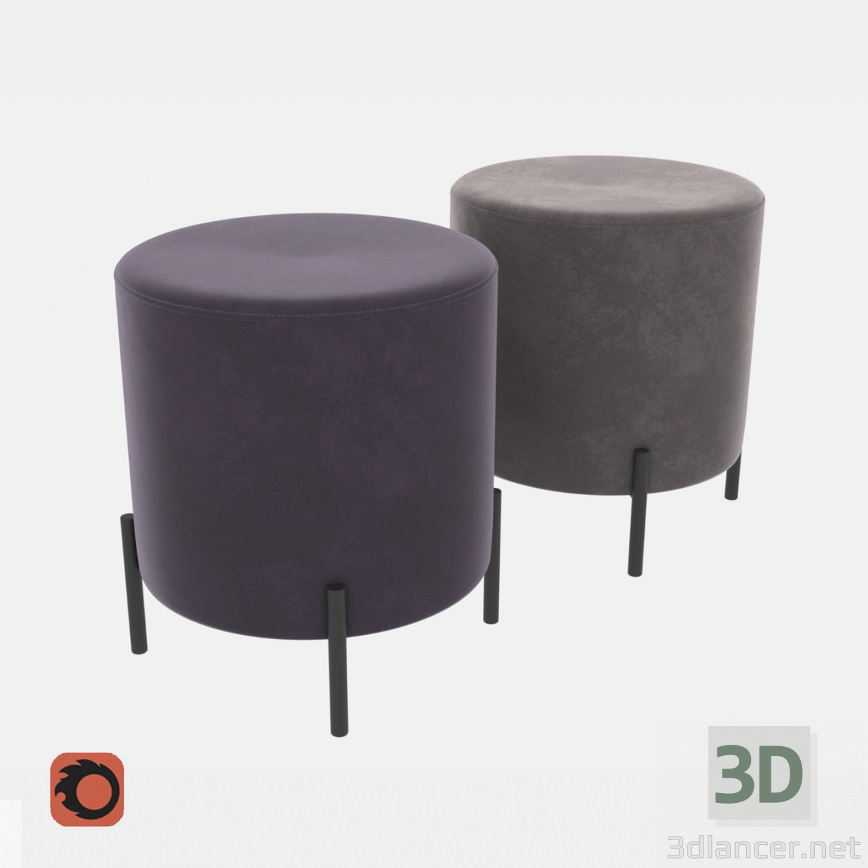 3d model Ottoman Pouf 430 - preview