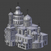 3d model New Jerusalem Monastery. Resurrection Cathedral - preview