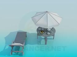 डेक कुर्सी और समुद्र तट तालिका