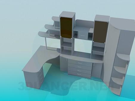 modelo 3D Los muebles en el estudio - escuchar