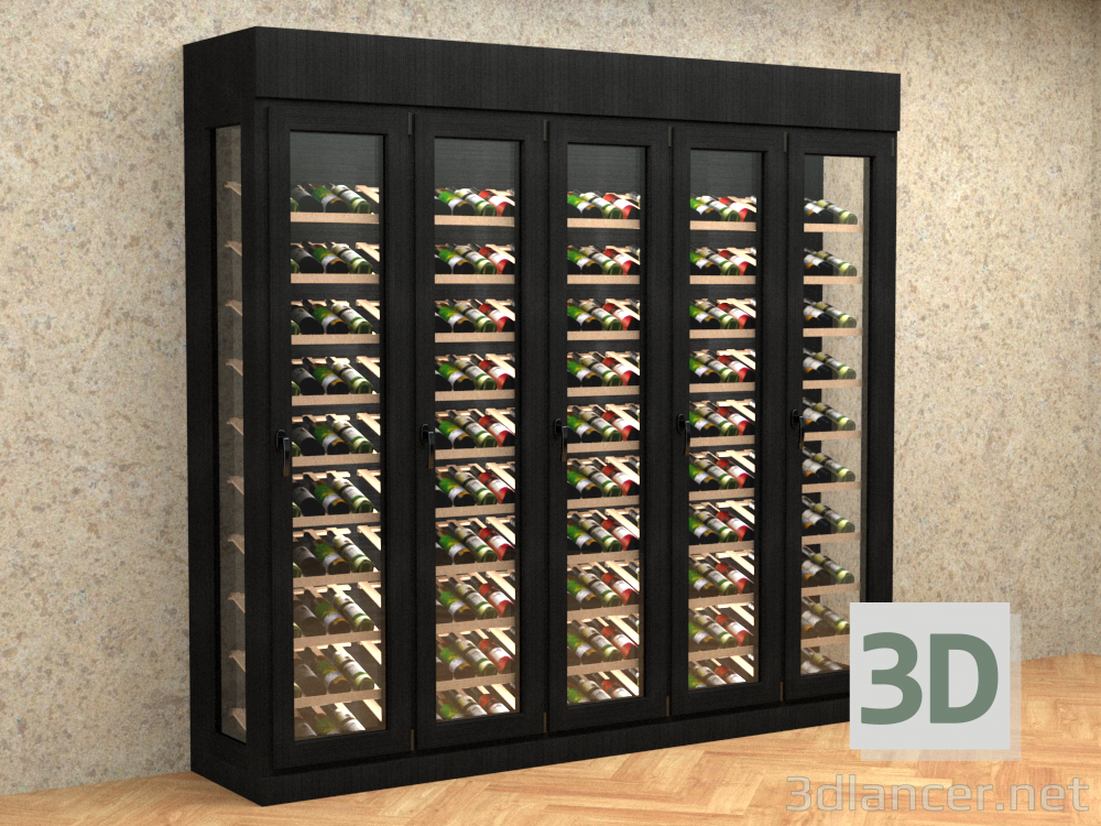 3d Case for Wine model buy - render