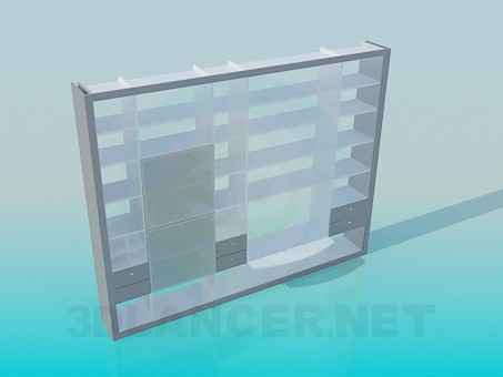 3d model Rack large - preview