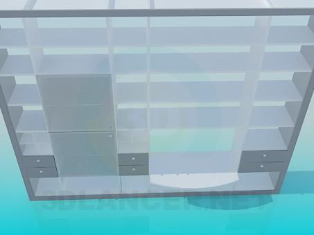 3d модель Стеллаж большой – превью