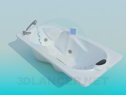 Bath with headrest