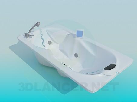 3d модель Ванна з підголовником – превью