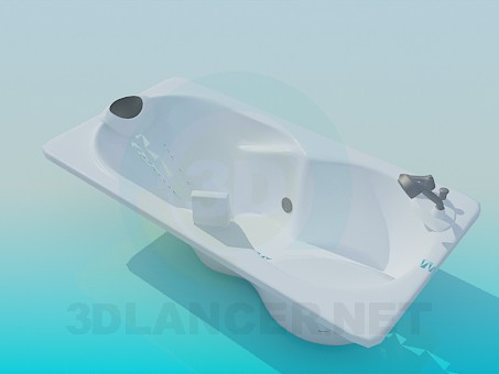 3d model Bath with headrest - preview