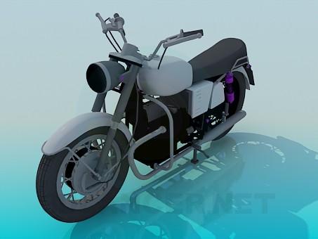 modelo 3D Moto - escuchar