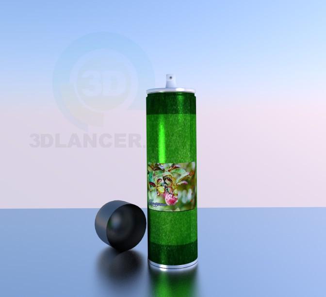descarga gratuita de 3D modelado modelo aerosol del cuerpo