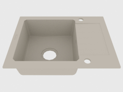 Fregadero, 1 recipiente con un ala para secar - alabastro Zorba (ZQZ A11A)