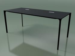 Tavolo da ufficio rettangolare 0815 (H 74 - 79x180 cm, laminato Fenix F06, V39)