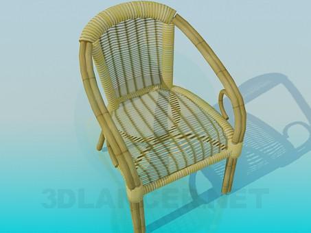 modelo 3D Silla tejida - escuchar
