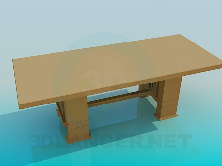 3d model A large wooden desk - preview