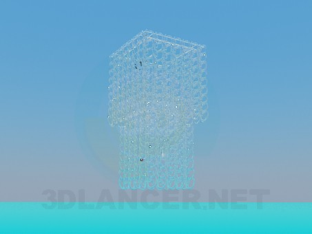 3d model Chandelier with glass spirals - preview