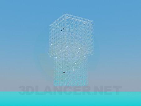 modelo 3D Lámpara Chandelier con espirales de vidrio - escuchar
