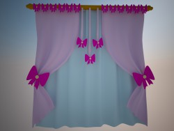 Curtains bows