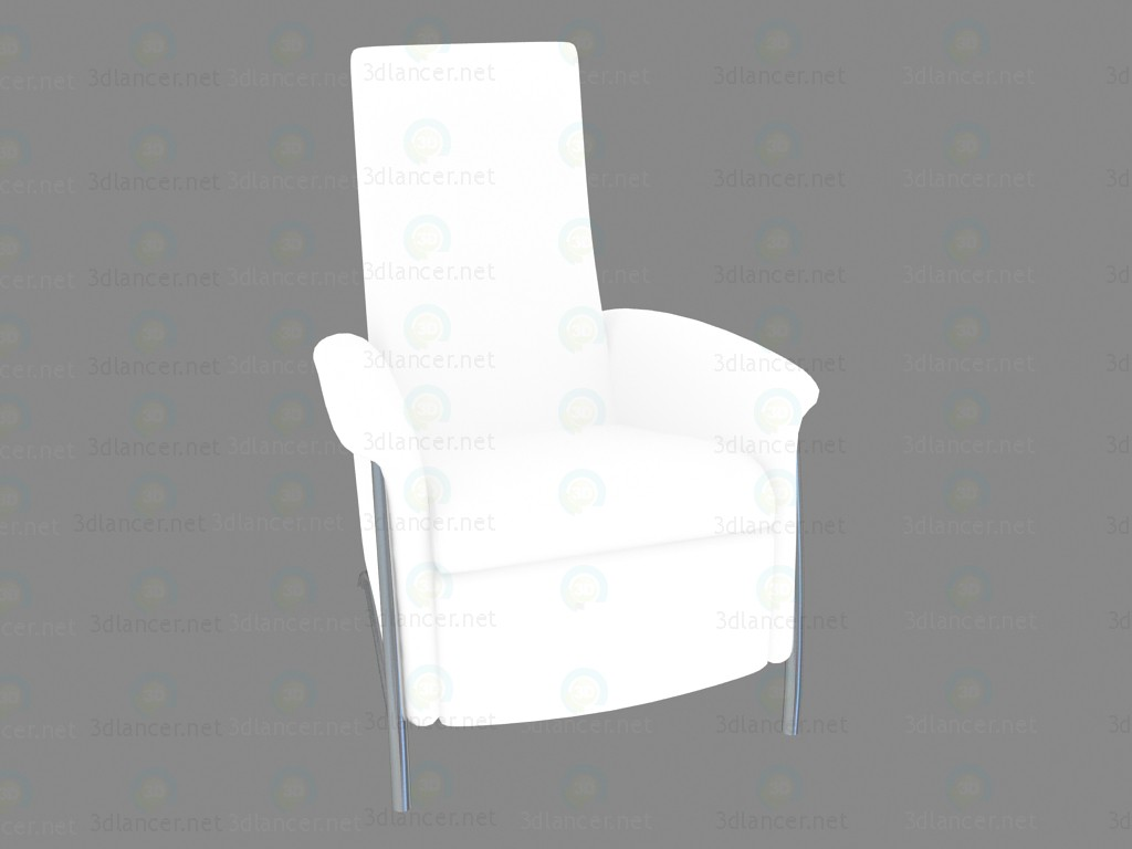 3d моделирование Кресло Lazy White модель скачать бесплатно