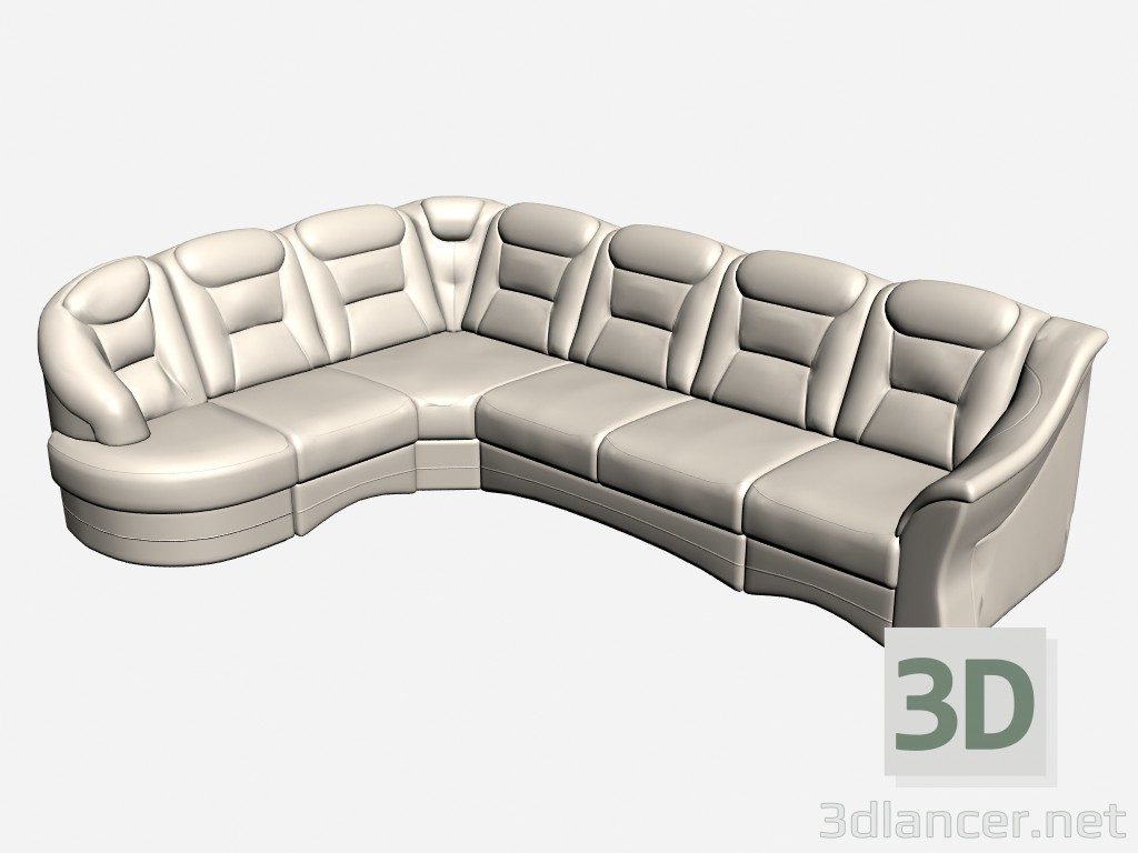 3d model Sofa corner Arena - preview