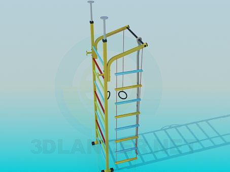 3d моделирование Детский спортивный снаряд модель скачать бесплатно
