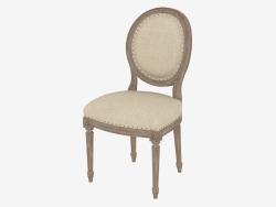 भोजन कुर्सी फ्रेंच विंटेज लूइस ROUND साइड चेयर (8827.0003.A015)