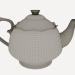 3d model Porcelain teapot - preview