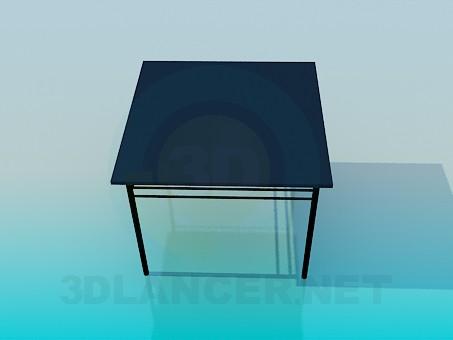 3d модель Квадратний столик – превью