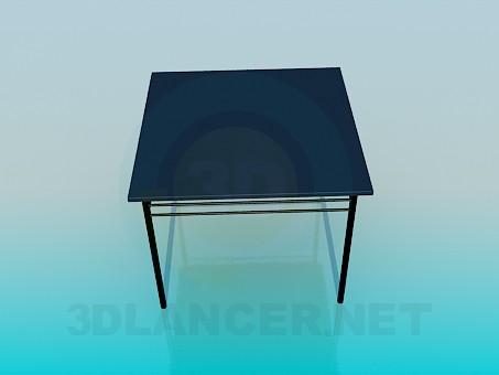 3d модель Квадратный столик – превью