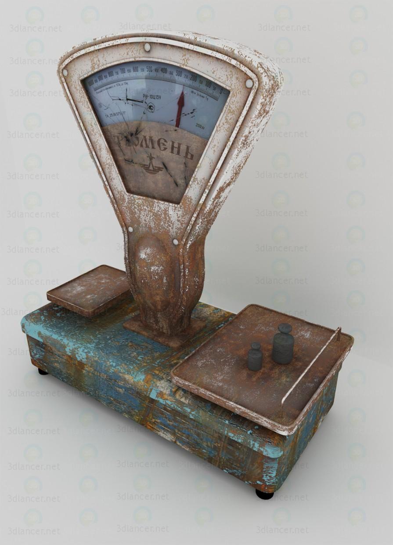 3d modeling Old scales Tyumen model free download