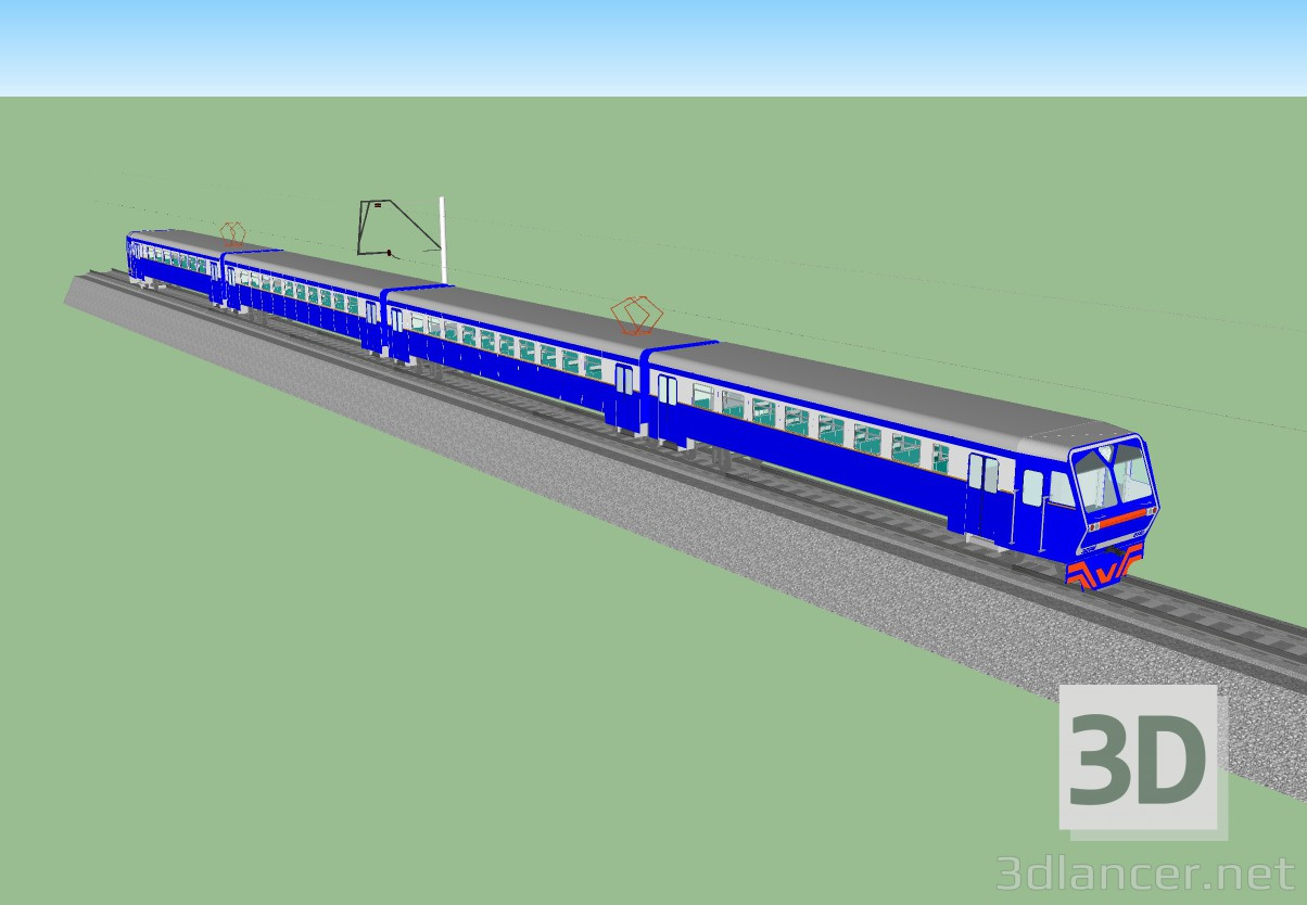 3d train ED9M model buy - render