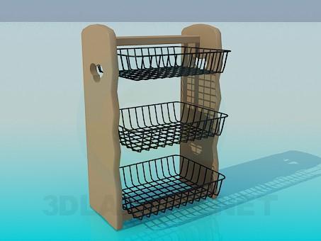 modelo 3D Soporte de los platos - escuchar