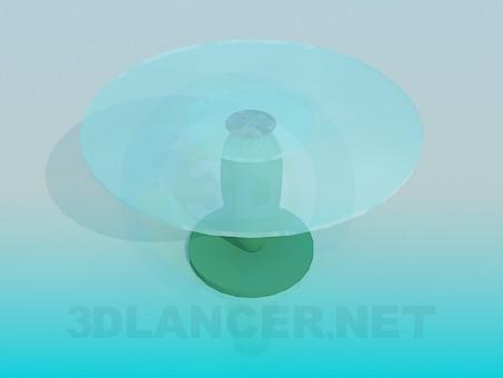 3D-Modellierung Tisch mit Runde Glasoberfläche Modell kostenlos herunterladen