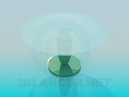 3d model Table with round glass surface - preview