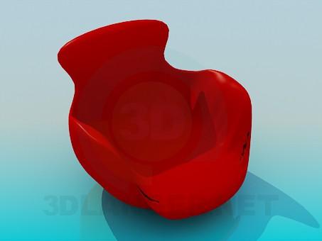 3d моделирование Сплошное кресло модель скачать бесплатно