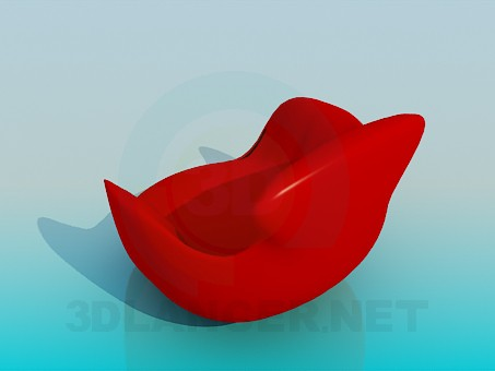modelo 3D Silla maciza - escuchar