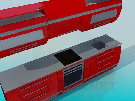 3d modeling Furniture for kitchen model free download