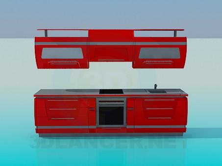 modelo 3D Muebles para cocina - escuchar