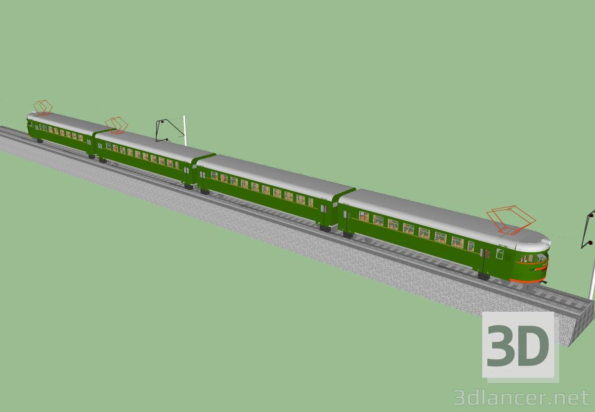 3d Elektrichka Er9 model buy - render