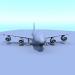 3 डी यात्री विमान मॉडल खरीद - रेंडर