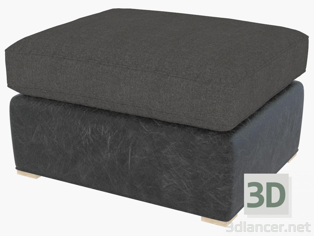 Tremendous 3D Model Ottoman Winslow Ottoman Wool Leather 7801 1114 Short Links Chair Design For Home Short Linksinfo