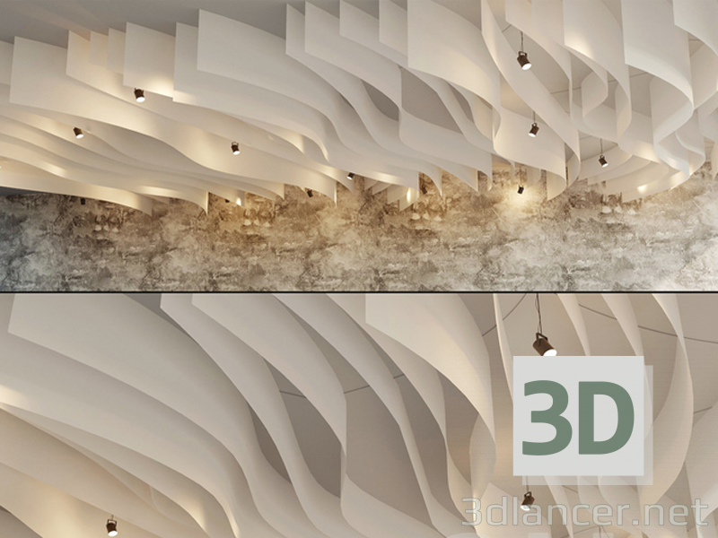 3d model Fall Ceiling - preview