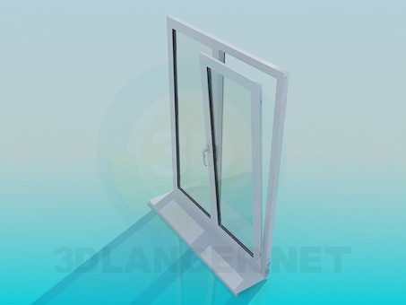 3d model metal plastic window download for free for Window 3d model