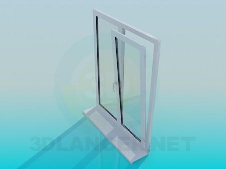 3d model Ventana de metal y plástico - vista previa