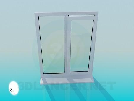 3d модель Металло-пластиковое окно – превью