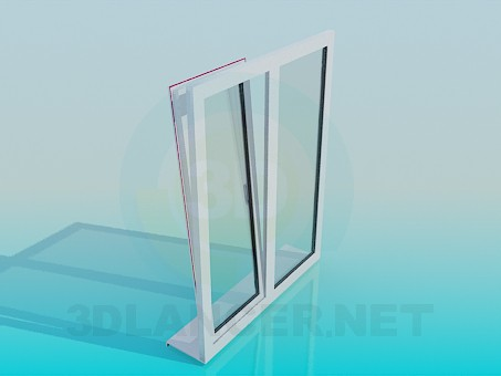 3d model Metal-plastic window - preview