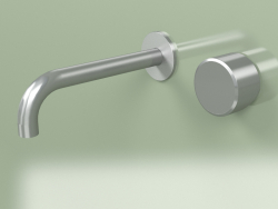 Wall-mounted mixer with spout (16 10 T, AS)