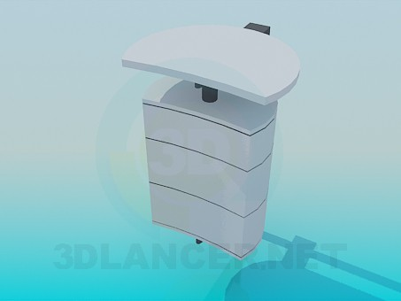3d model Wall pedestal - preview