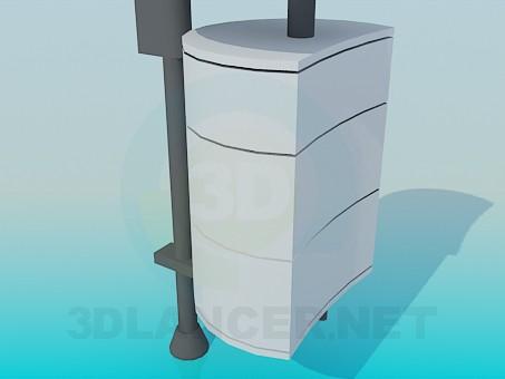 modelo 3D Pedestal de pared - escuchar