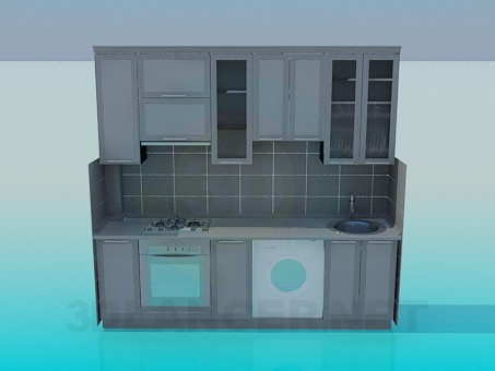 3d model A small kitchen - preview